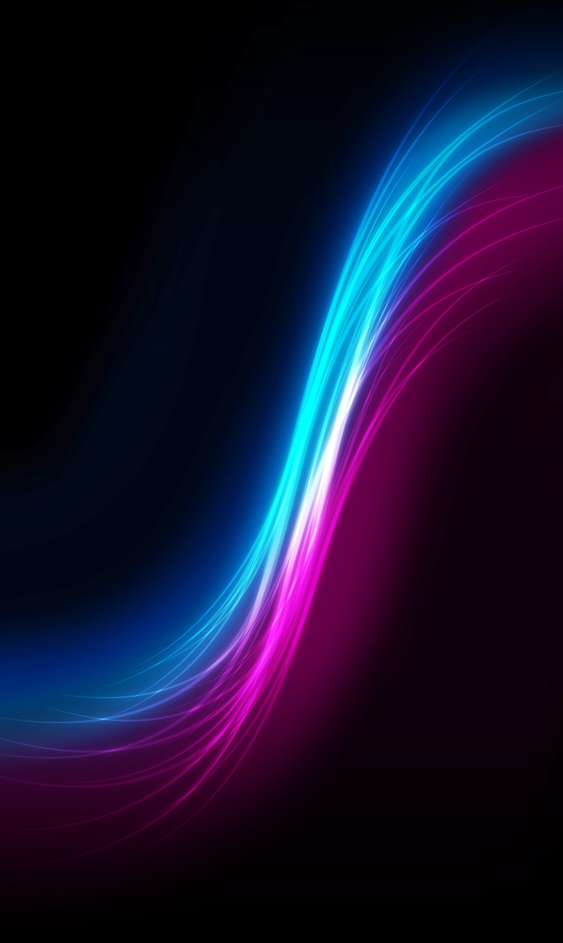 A wave of blue and magenta light.